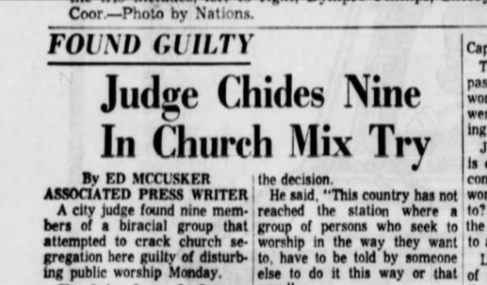 Judge chides nine in church mix try
